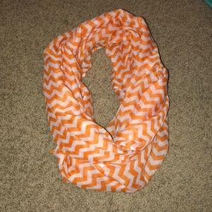 Orange Chevron Infinity Scarf